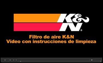 Instrucciones de limpieza para filtros K&N